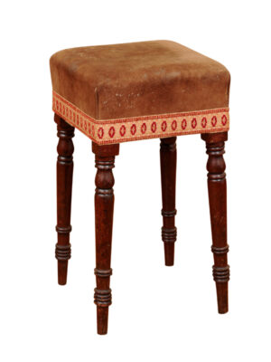 19th Century English Turned Leg Stool