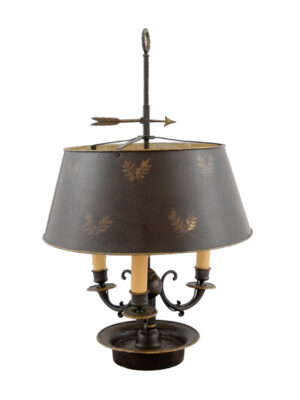 19th Century French Bronze Bouillotte Lamp