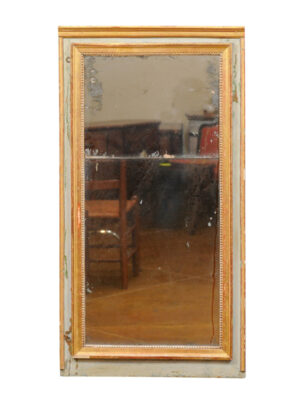 19th Century French Painted & Parcel Gilt Mirror