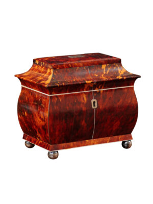 19th Century Pagoda Form Tortoiseshell Tea Caddy