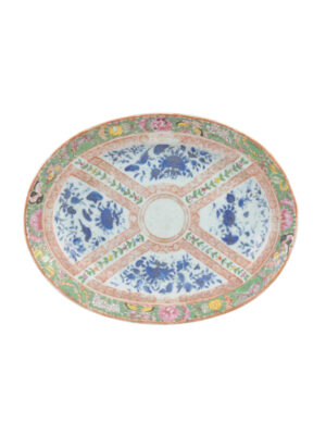 19th Century Rose Medallion Platter