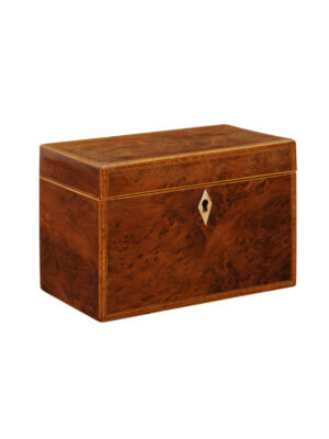 Burled Yew Tea Caddy