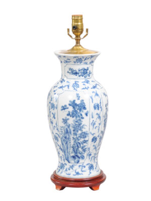 Chinese Export Style Blue & White Lamp