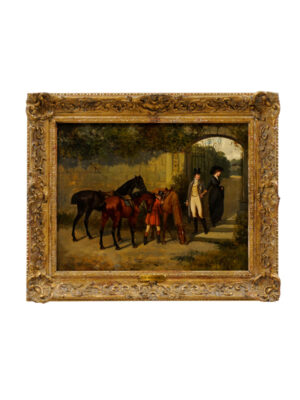 D Bates Oil on Canvas Horse Painting