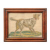 Framed 19th Century Dog Needlework