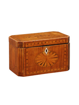 George III Satinwood Inlaid Tea Caddy