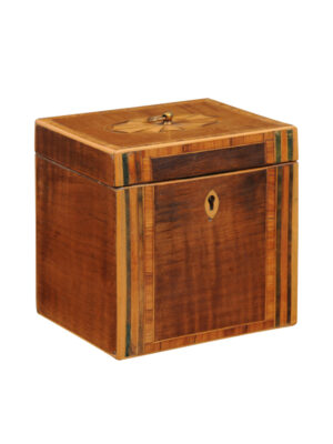 George III Sycamore Tea Caddy