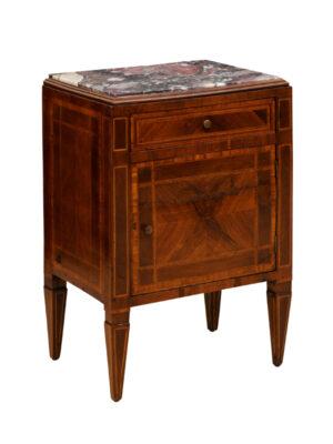 Louis XVI Style Walnut Bedside Commode