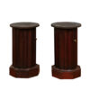 Pair 19th Century French Cylindrical Bedside Commodes