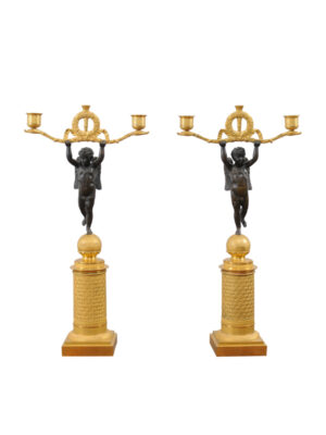 Pair 19th Century French Empire Candelabra
