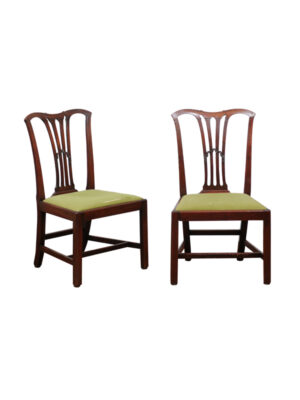 Pair English Mahogany Side chairs