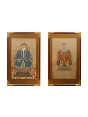 Pair Framed Chinese Portraits