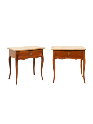 Pair Louis XV Style Side Tables