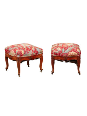 Pair Louis XV Style Walnut Benches