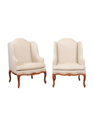 Pair Regence Style Wing Chairs