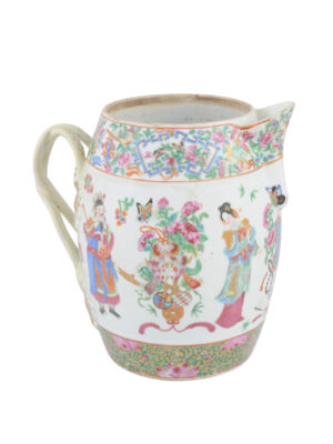 Rose Medallion Porcelain Pitcher