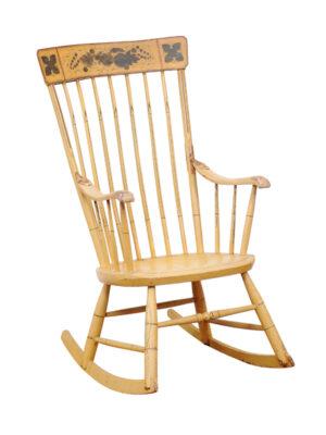 Vintage American Painted Rocking Chair