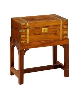 Walnut & Brass Lap Desk on Stand