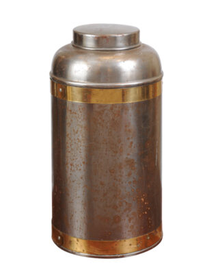 19th Century Brass & Steel Tea Cannister