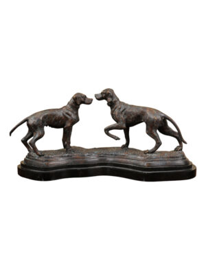 20th Century Bronze Dog Figures