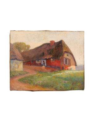 Early 20th Century Oil on Canvas Landscape