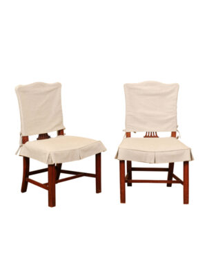 Pair George III Style Mahogany Side Chairs