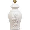 White Ceramic Temple Jar Lamp