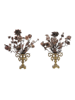 19th Century Brass & Tole Flower Baskets