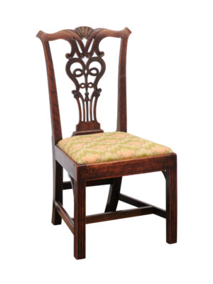 19th Century English Chippendale Ash Side Chair