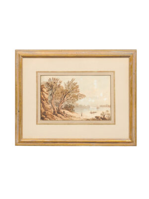 19th Century English Framed Watercolor Landscape