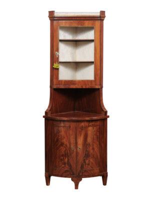 19th Century Neoclassical Style Mahogany Corner Cabinet