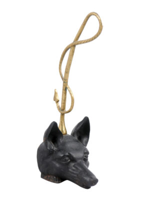 20th Century Iron & Brass Fox Doorstop