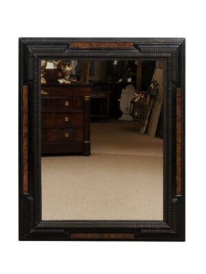 Black & Faux Tortoiseshell Painted Mirror