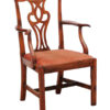 Chippendale Elm Arm Chair