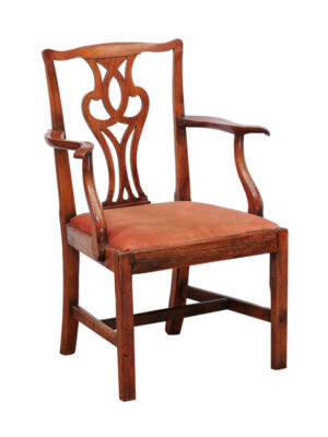 Chippendale Elm Arm Chair