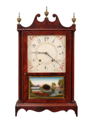 Eli Terry Pillar & Scroll Mantel Clock