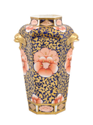English Imari Octagonal Form Vase