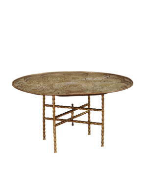 Engraved Brass Coffee Table