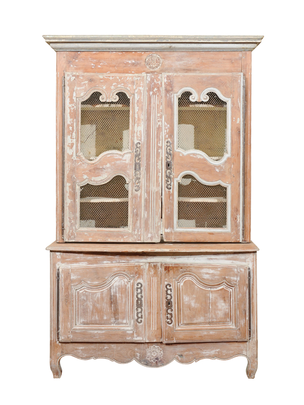 French Painted Buffet Deux Corps