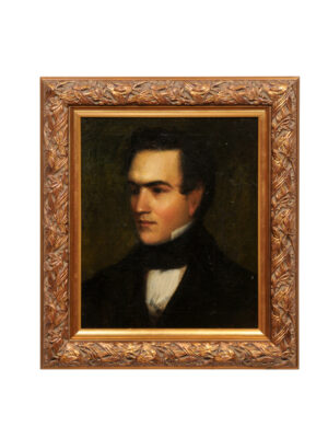 Giltwood Framed Oil on Canvas Portrait of a Gentleman