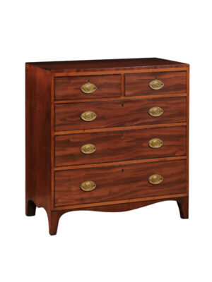 Hepplewhite Mahogany 5-Drawer Chest