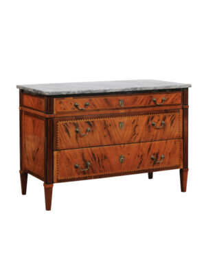 Late 18th Century Italian Inlaid Olivewood Commode