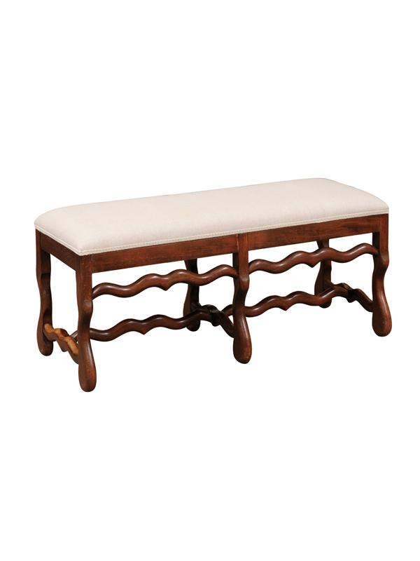 Louis XIV Style Oak Bench