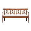 Louis XVI Walnut Pierced Back Settee