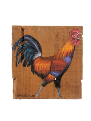 Oil on Board Rooster Painting