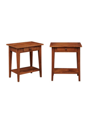 Pair 19th Century French Fruitwood Side Tables