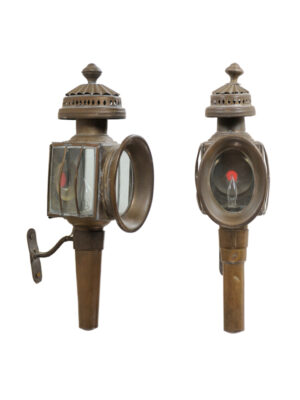 Pair Brass Coach Lanterns