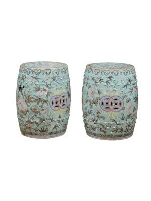 Pair Chinese Porcelain Garden Seats