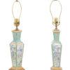 Pair Famille Rose Porcelain Lamps