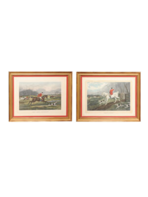 Pair Framed English Hunt Engravings